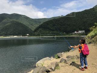バス釣り  富士山  子供の写真・画像素材[862682]