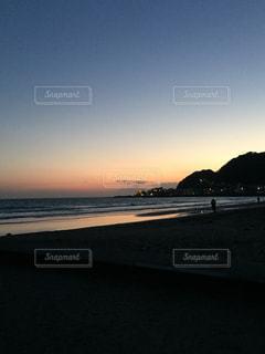 鎌倉の夕日の写真・画像素材[860346]