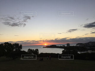 オセアニアの沈む夕日の写真・画像素材[860849]