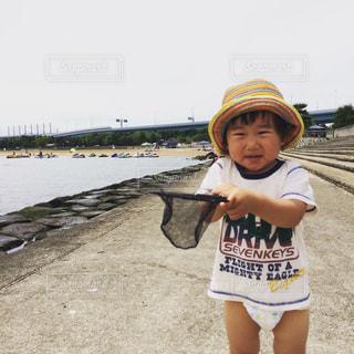 変顔の子供の写真・画像素材[860275]