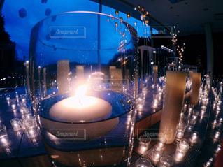 青色光とガラスの写真・画像素材[862248]
