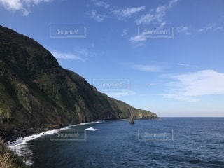 山と海と筆島の写真・画像素材[860812]