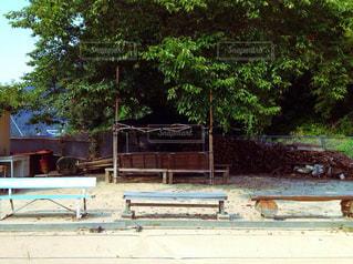 木製ベンチの写真・画像素材[868789]