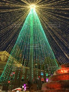 クリスマスツリー ライトアップの写真・画像素材[860561]