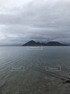 洞爺湖への線路の写真・画像素材[1267357]
