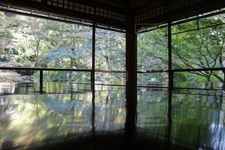 瑠璃光院2階の窓より望む景色の写真・画像素材[862856]