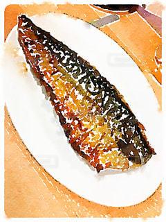 サバの塩焼き 水彩画調の写真・画像素材[981392]