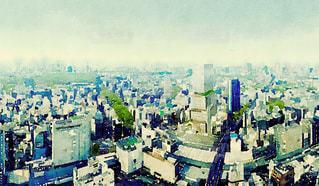 渋谷ヒカリエの水彩画調の写真・画像素材[981397]