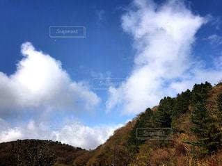 背景の山と木の写真・画像素材[862387]