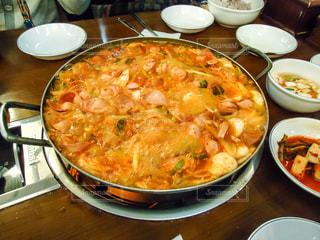 韓国でプデチゲの写真・画像素材[868442]