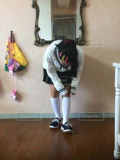 靴下が気になるの写真・画像素材[1032025]