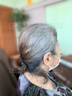 高齢者の髪の毛の写真・画像素材[3668775]