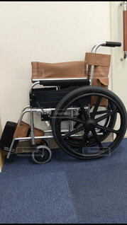 車椅子は折り畳みだの写真・画像素材[3669163]