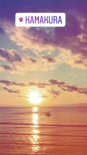 日没の前にビーチの看板の写真・画像素材[1036226]