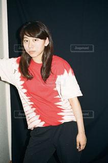 絞り染めのTシャツの写真・画像素材[866513]