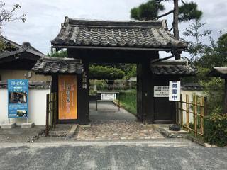 愛媛県にある天赦園の正面入り口(2)の写真・画像素材[867217]