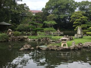 愛媛県の天赦園にある池 - No.867228