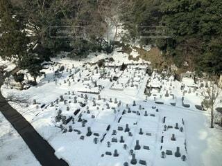 雪に覆われた墓石の写真・画像素材[1025174]
