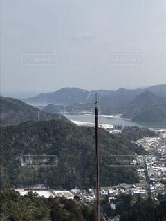 山頂から眺めた雪景色(2)の写真・画像素材[1025182]