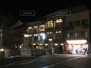 夜の城崎温泉街の写真・画像素材[1025246]