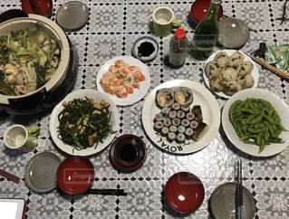 昭和時代の食卓の写真・画像素材[2009849]