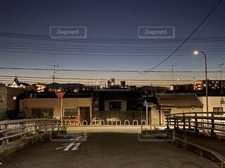 東福寺駅近くの夜景2の写真・画像素材[3749609]