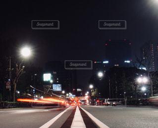 深夜の芝公園前にての写真・画像素材[870645]