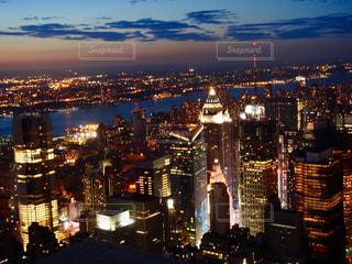 ニューヨークの夜景の写真・画像素材[871846]