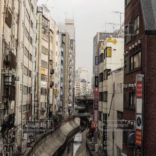今は無き東横線と渋谷川の風景。の写真・画像素材[1678192]
