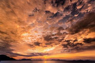 雲の朝焼けの写真・画像素材[1741722]