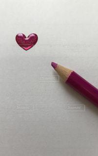 立体ハートと色鉛筆 ピンク - No.874466