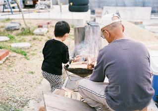 おじいちゃんと孫の写真・画像素材[871276]