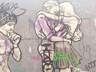 ブルックリンのウォールアートの写真・画像素材[871724]