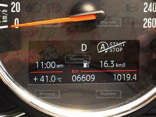 車載計器の温度計の写真・画像素材[1871430]