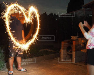 花火で告白⁈の写真・画像素材[2379230]