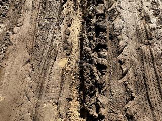 荒れた道の写真・画像素材[875526]