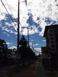 青と雲の写真・画像素材[879271]