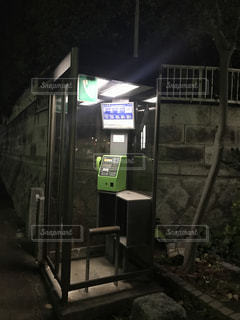 夜の公衆電話の写真・画像素材[901565]