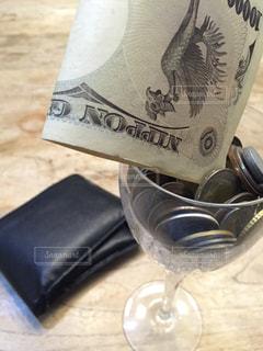 世界のコイングラス前菜〜一万円札を添えて〜の写真・画像素材[878670]