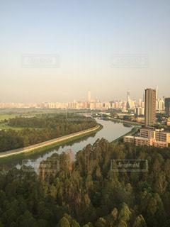 国境の川の写真・画像素材[878090]