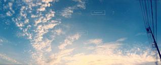 電柱と空の写真・画像素材[878641]