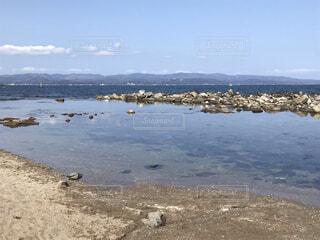 静寂の浜辺の写真・画像素材[4914975]