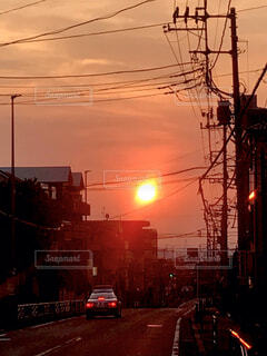 赤い街の写真・画像素材[4915021]