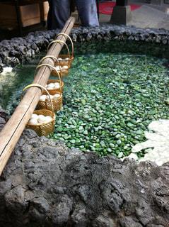草津の温泉卵の写真・画像素材[879119]