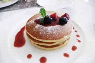 朝食にパンケーキの写真・画像素材[924613]