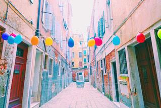 ベネチアの路地の写真・画像素材[881267]