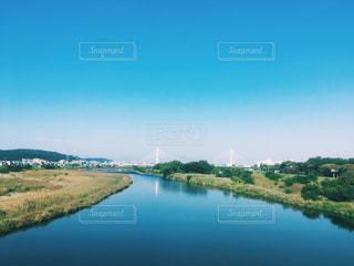 青い空と多摩川の写真・画像素材[881719]