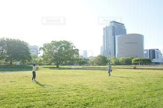 緑の野原で男の写真・画像素材[1059590]