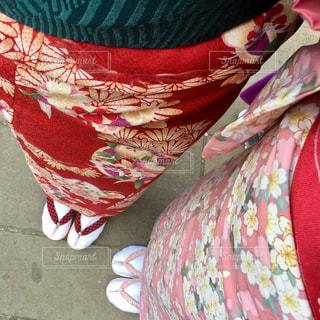 着物で女子旅の写真・画像素材[1188266]