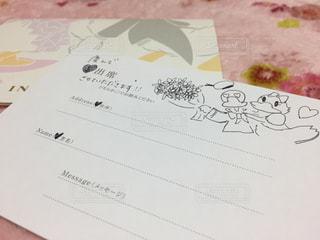 結婚式招待状返信アート その1の写真・画像素材[944529]